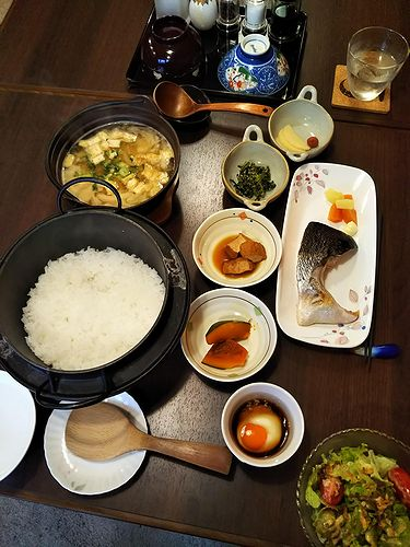 20181203草津温泉民泊花栞(はなしおり)今朝の宿泊のお客様の朝食