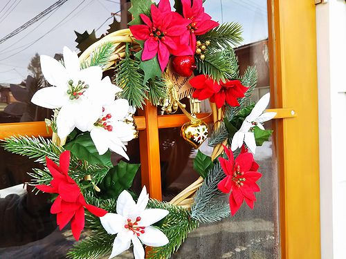 20181225草津温泉カフェ花栞(はなしおり)クリスマスリース1