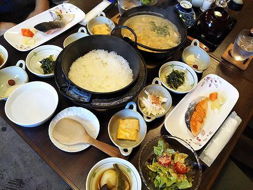 20181231草津温泉民泊花栞(はなしおり)今朝の宿泊のお客様の朝食