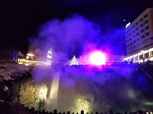20190110草津温泉湯畑ツリー1