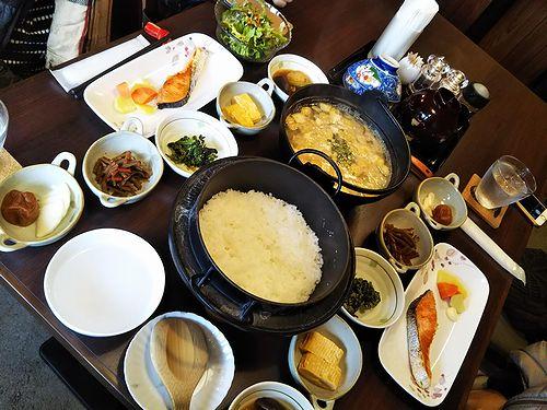 20190115草津温泉民泊花栞(はなしおり)今朝の宿泊のお客様の朝食