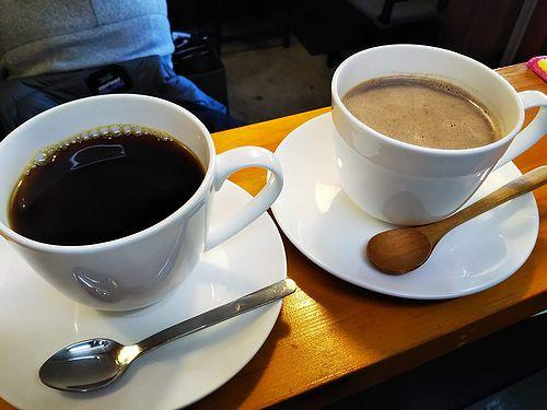 20190121草津温泉カフェ花栞(はなしおり)ホットチョコレート、ホットコーヒー1