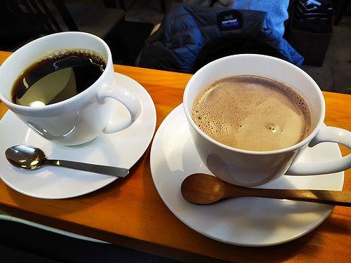 20190121草津温泉カフェ花栞(はなしおり)ホットチョコレート、ホットコーヒー2