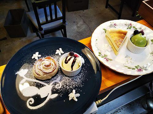 20190301草津温泉カフェ花栞(はなしおり)アップルペイ、チーズケーキ