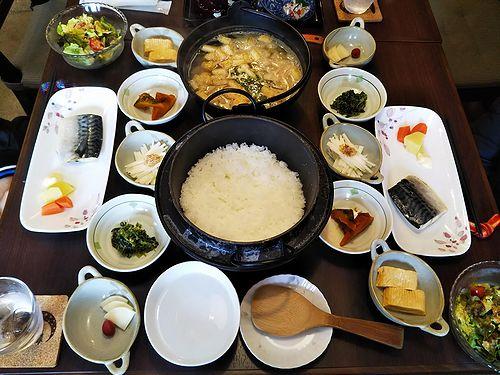20190308草津温泉民泊花栞(はなしおり)今朝の宿泊のお客様の朝食