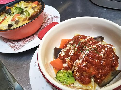 20190321草津温泉カフェ花栞(はなしおり)トマトソース煮込みハンバーグ