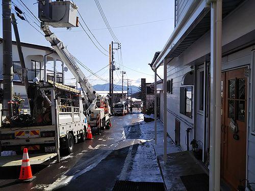 20190401草津温泉カフェ花栞(はなしおり)店前工事中