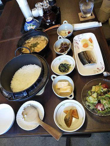 20190418草津温泉民泊花栞(はなしおり)今朝の宿泊のお客様の朝食
