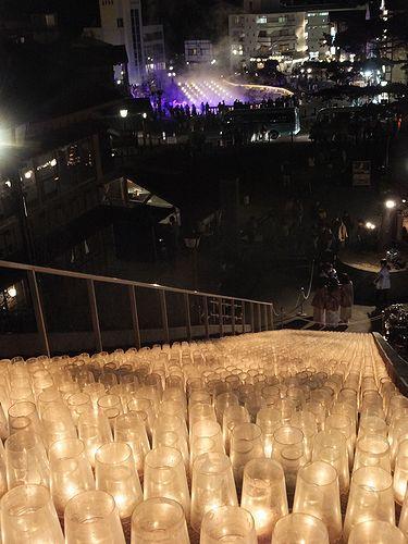 20190420草津温泉湯畑キャンドル「夢の灯り」