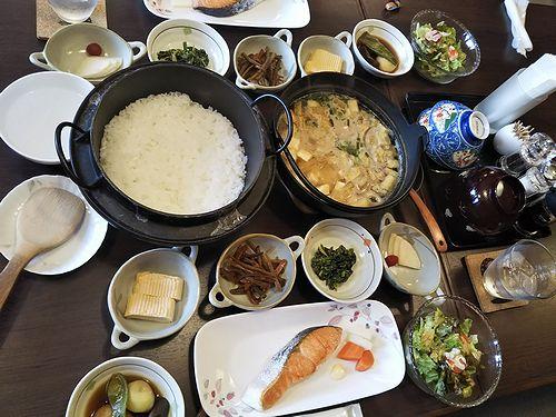 20190429草津温泉民泊花栞(はなしおり)今朝の宿泊のお客様の朝食