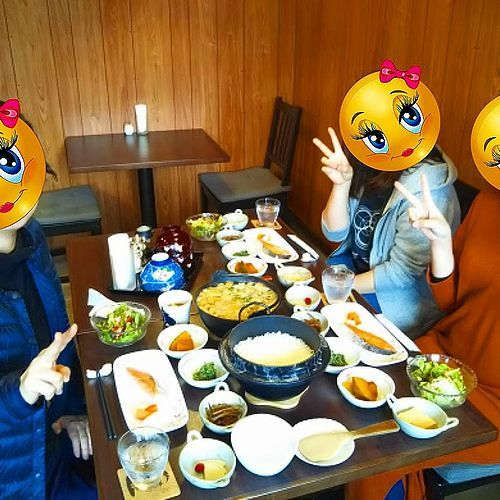 20190501草津温泉民泊花栞(はなしおり)今朝の宿泊のお客様の朝食