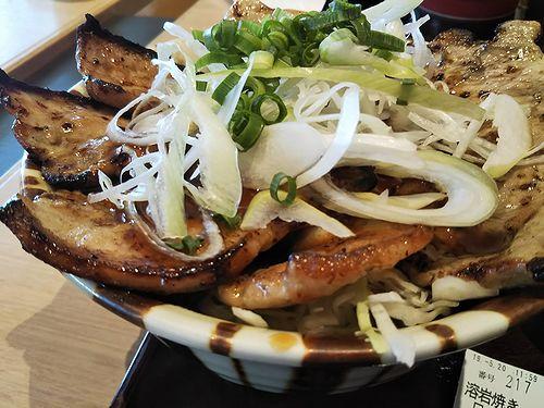 20190520関越自動車道上里サービスエリア、溶岩焼きロース・バラ豚丼