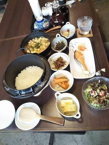 20190608草津温泉民泊花栞(はなしおり)今朝の宿泊のお客様の朝食