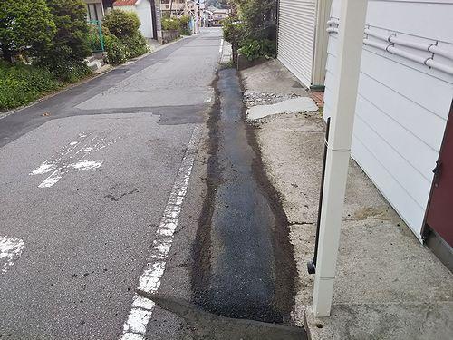 20190612草津温泉カフェ花栞(はなしおり)道路補修 (1)