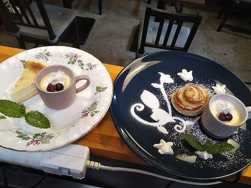 20190614草津温泉カフェ花栞(はなしおり)チーズケーキ、アップルパイ (1)