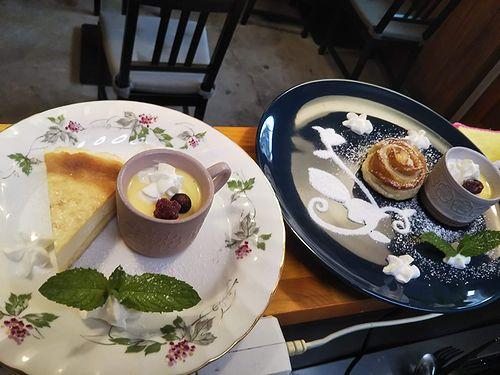 20190614草津温泉カフェ花栞(はなしおり)チーズケーキ、アップルパイ (2)