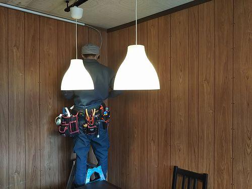 20190617草津温泉カフェ花栞(はなしおり)エアコン設置工事開始
