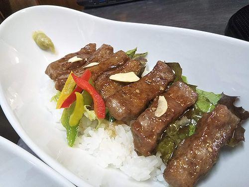 20190628草津温泉カフェ花栞(はなしおり)がっつりステーキ丼