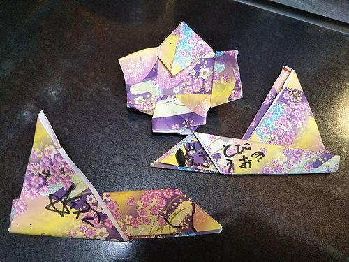20190722草津温泉民泊花栞(はなしおり)お客様がおってくれた折り紙 (1)