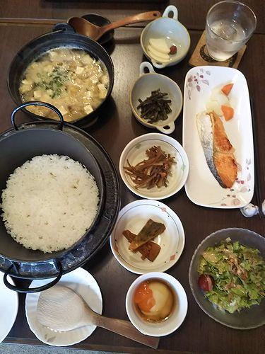 20190726草津温泉民泊花栞(はなしおり)今朝の宿泊のお客様の朝食