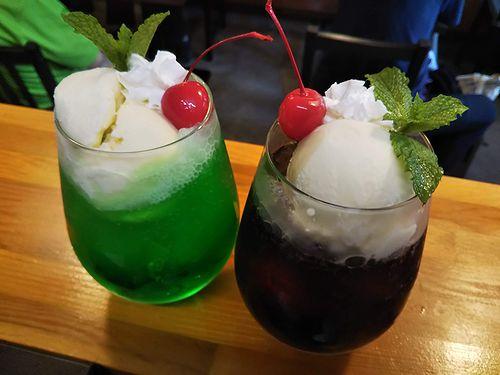 20190806草津温泉カフェ花栞(はなしおり)クリームソーダ、コーヒーフロート、コーラフロート (1)