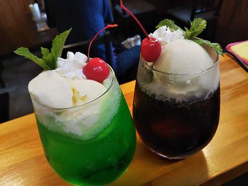 20190806草津温泉カフェ花栞(はなしおり)クリームソーダ、コーヒーフロート、コーラフロート (2)
