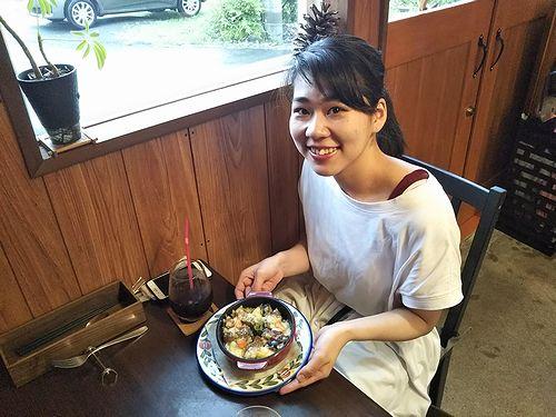 20190816草津温泉カフェ花栞(はなしおり)スーパーエキセントリックシアター、鈴木かぐやちゃん来店