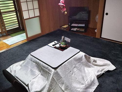 20190913草津温泉民泊花栞(はなしおり)こたつ出してシャクナゲどうしよう (2)