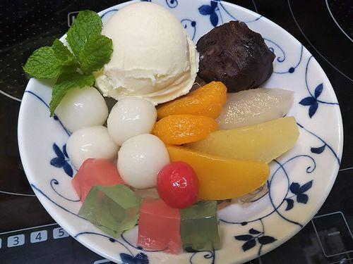 20190926草津温泉カフェ花栞(はなしおり)白玉クリームあんみつ