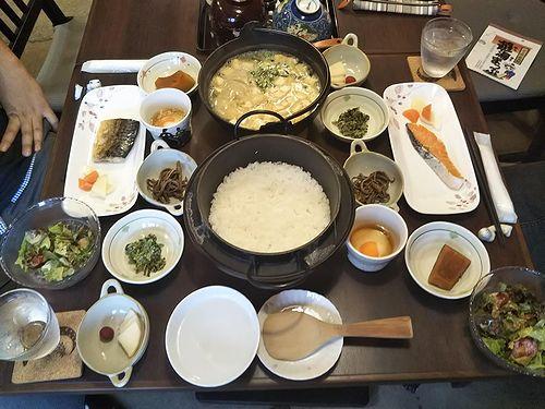 20191007草津温泉民泊花栞(はなしおり)今朝の宿泊のお客様の朝食