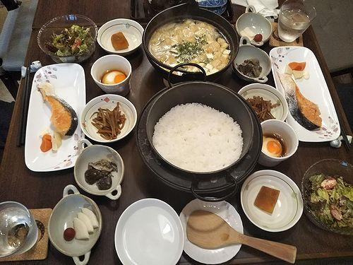 20191022草津温泉民泊花栞(はなしおり)今朝の宿泊のお客様の朝食