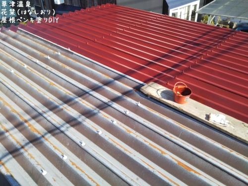 20200502草津温泉民泊花栞(はなしおり)屋根ペンキ塗りDIY (4)