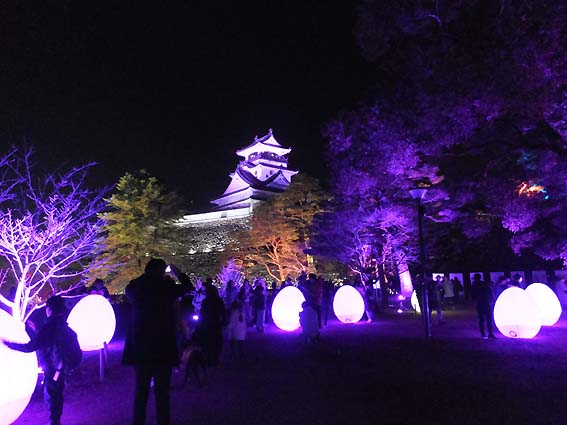チームラボ 高知城 光の祭