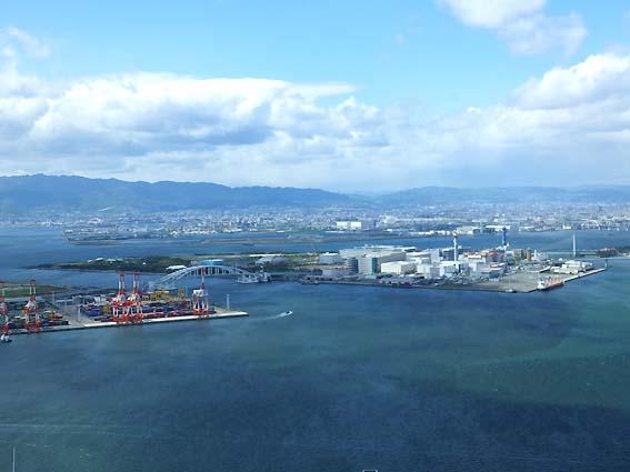 さきしまCOMSO TOWER展望台から見た舞洲全景