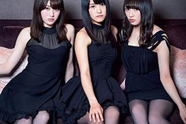 【欅坂46】モデル系メンバー3人が黒ストッキングの美脚グラビア。