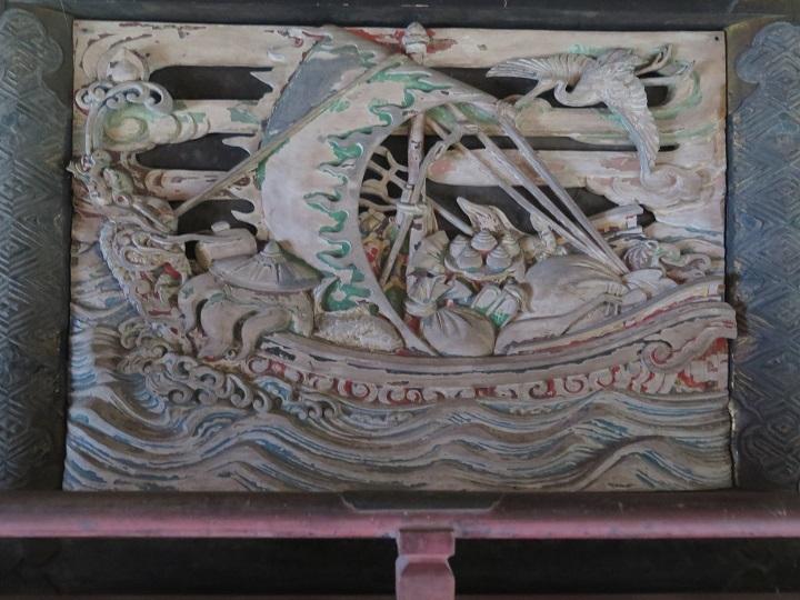 本殿後部の彫り物