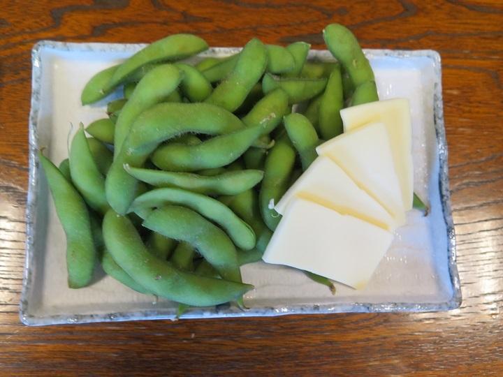 枝豆とチーズ