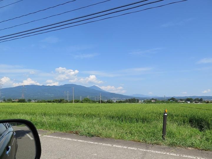 会津盆地より