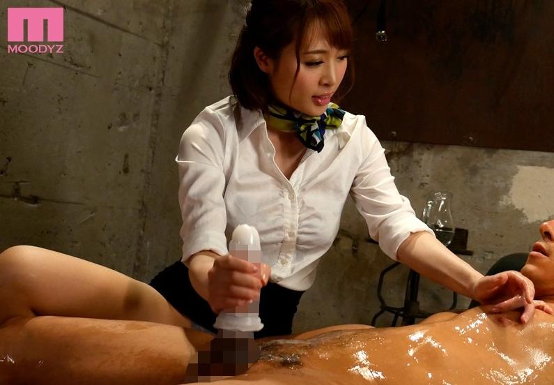 本田岬 手コキ ローション 痴女 M男 M男の人体を固定する連続射精回春マッサージサロン