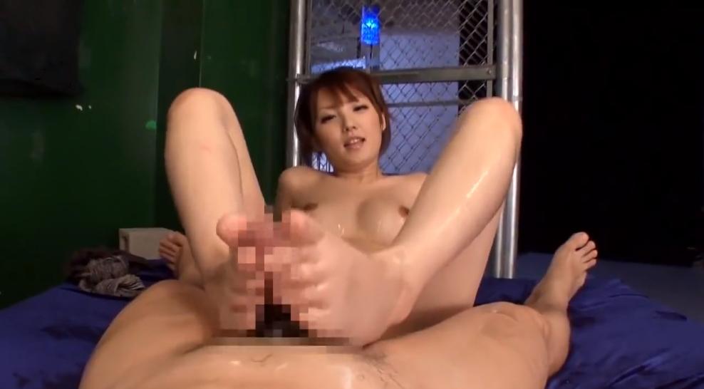 足コキ 尻コキ M男 天海つばさ ローション S女