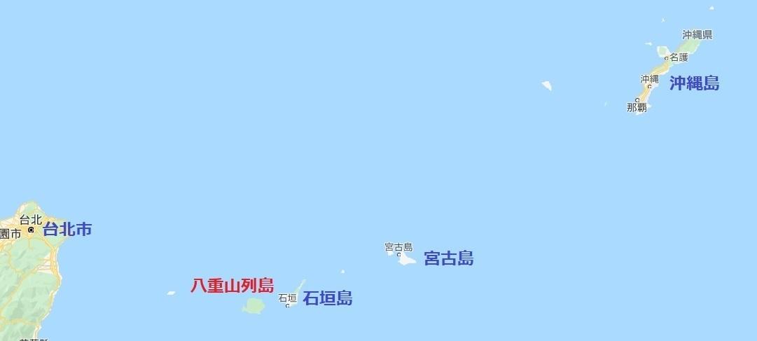 琉球列島地図2020053012