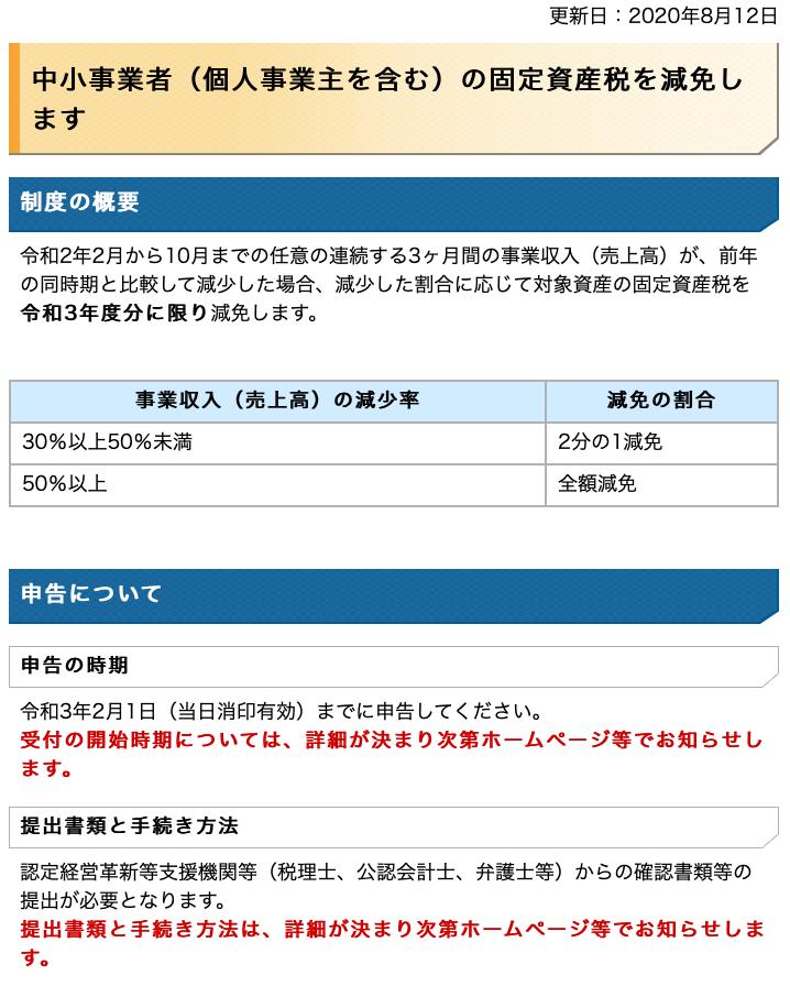 固定資産税減免01