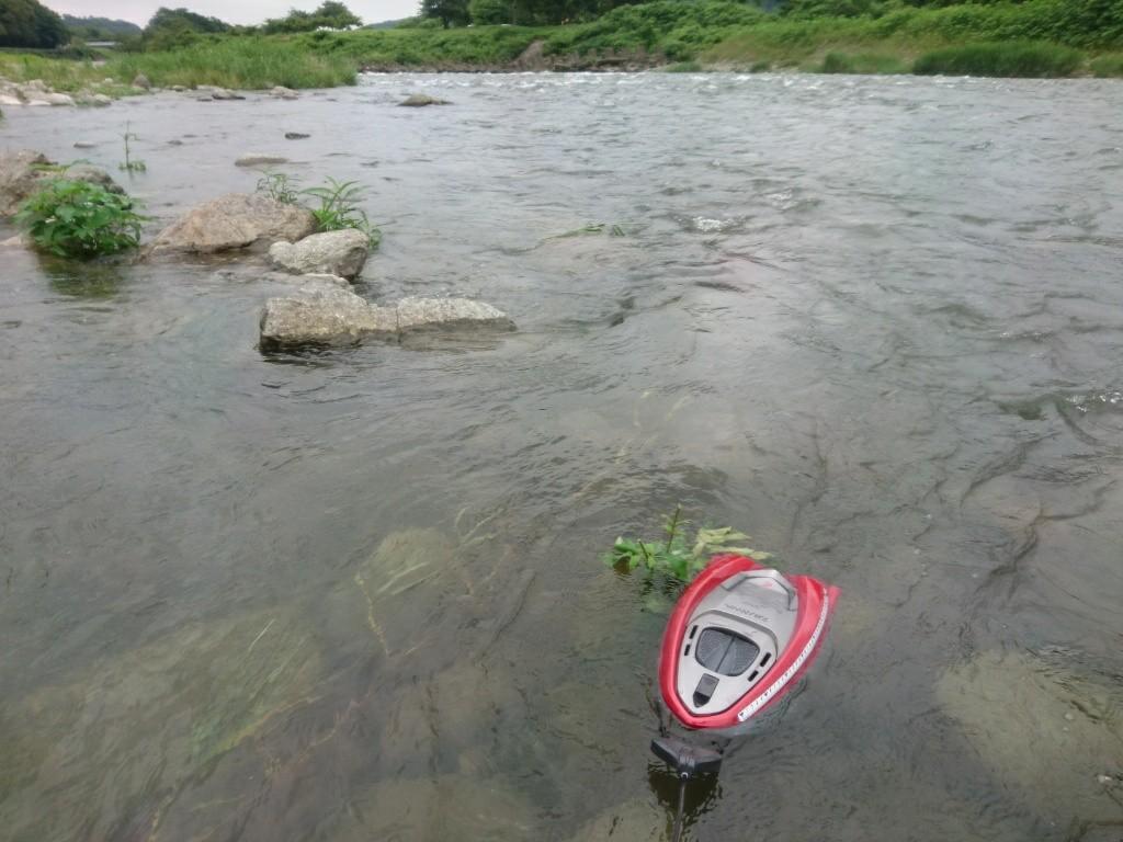 まだまだ水量多い相模川♪
