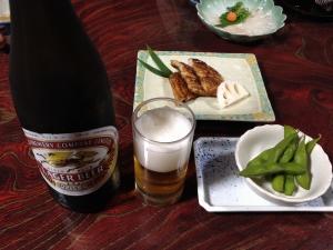 ビール蒲焼魚長20190810