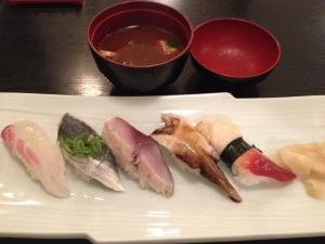 九十九曲寿司3皿目20190811