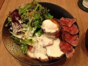 クランチローストビーフ丼20190928