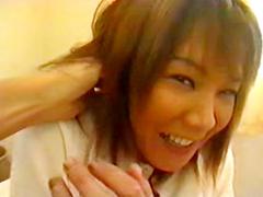 【無修正】アナルとマ●コ同時責め!三十路色黒ドM女