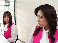 完熟むすめ : 【無修正】悩殺的痴女遊戯 第十三章 会社の華、エッチでカワイイ二人のEカップ受付嬢、センリとめい