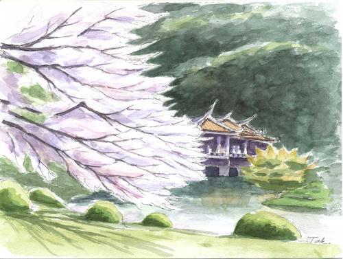 新宿御苑の桜と台湾閣1(合成Arc修正)_convert_20190410180520