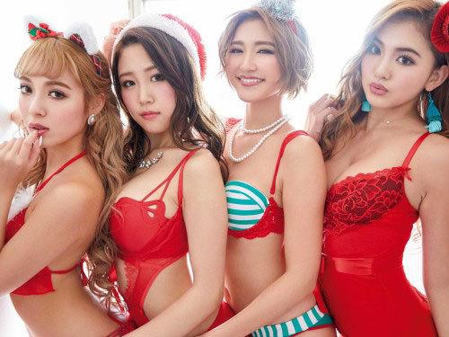 サイバージャパンダンサーズ【巨乳到来】セクシー露出サンタランジェリーグラビア 148枚